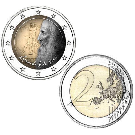2 € Leonardo da Vinci VÄRITETTY