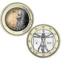 Italia 1 € Leonardo da Vinci VÄRITETTY