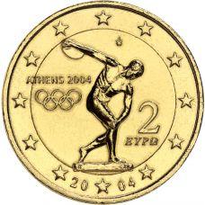 Kreikka 2004 2 €  Ateenan olympialaiset KULLATTU
