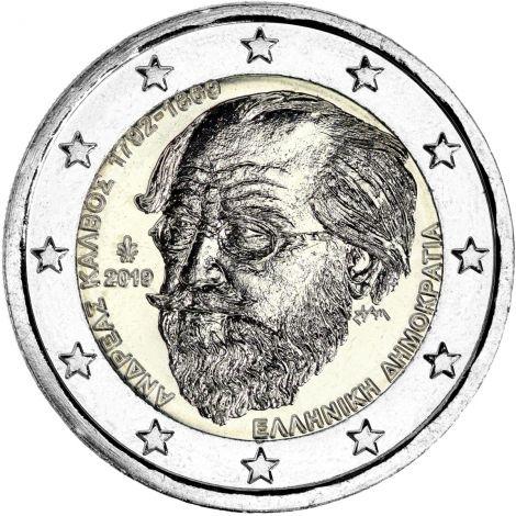 Kreikka 2019 2 € Andreas Kalvos UNC