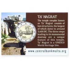Malta 2019 2 € Ta' Hagrat temppelit COINCARD
