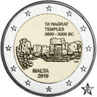 """Malta 2019 2 € Ta' Hagrat temppelit """"F"""" BU"""
