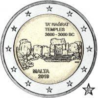 """Malta 2019 2 € Ta' Hagrat temppelit """"F"""" UNC"""