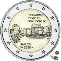 Malta 2019 2 € Ta' Hagrat temppelit MdP UNC