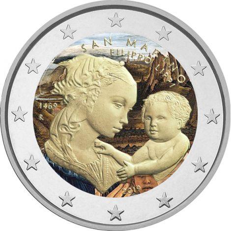 San Marino 2019 2 € Filippo Lippi VÄRITETTY