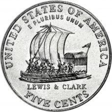 """USA 2004 $0,05 Jefferson - Keelboat """"P"""" UNC"""