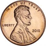 """USA 2010 $0,01 Lincoln - Union Shield """"P"""" UNC"""