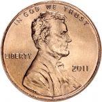 """USA 2011 $0,01 Lincoln - Union Shield """"P"""" UNC"""