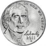 "USA 2011 $0,05 Jefferson - Monticello ""D"" UNC"