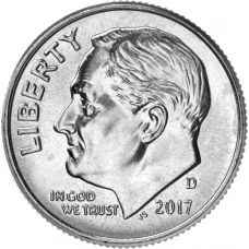 """USA 2017 $0,10 Roosevelt """"D"""" UNC"""