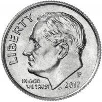 "USA 2017 $0,10 Roosevelt ""P"" UNC"