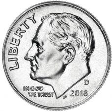 """USA 2018 $0,10 Roosevelt """"D"""" UNC"""