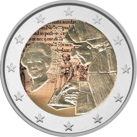 Alankomaat 2011 2 € Erasmus VÄRITETTY