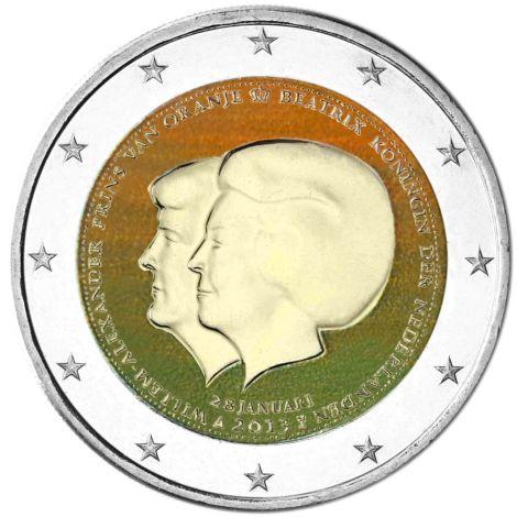 Alankomaat 2013 2 € Double Portrait #2 VÄRITETTY