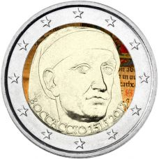 Italia 2013 2 € Giovanni Boccaccio #2 VÄRITETTY