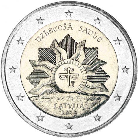 Latvia 2019 2 € Vaakuna - nouseva aurinko UNC