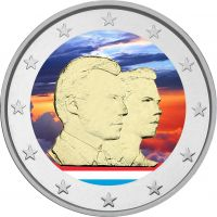 Luxemburg 2006 2 € Suurherttua Guillaume VÄRITETTY