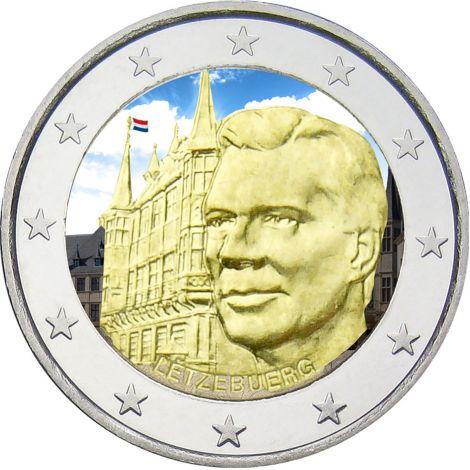 Luxemburg 2007 2 € Suurherttuan palatsi VÄRITETTY