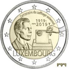 """Luxemburg 2019 2 € Yleinen äänioikeus 100 vuotta """"silta"""" UNC"""