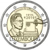 Luxemburg 2019 2 € Yleinen äänioikeus 100 vuotta UNC
