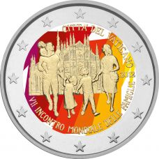 Vatikaani 2012 2 € World Meeting of Families #2 VÄRITETTY