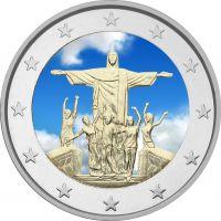 Vatikaani 2013 2 € 28. Maailman nuorten päivä - Rio de Janeiro VÄRITETTY