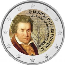 2 € Beethoven - 250 vuotta syntymästä VÄRITETTY
