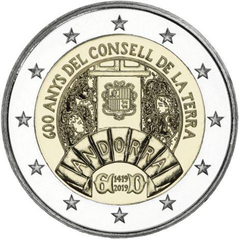 Andorra 2019 2 € Maaneuvosto 600 vuotta BU