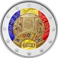 Andorra 2019 2 € Maaneuvosto 600 vuotta VÄRITETTY
