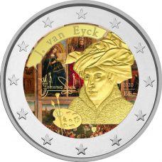 Belgia 2020 2 € Jan van Eyck VÄRITETTY