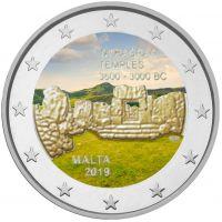 Malta 2019 2 € Ta' Hagrat temppelit #2 VÄRITETTY
