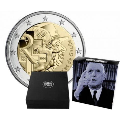 Ranska 2020 2 € Charles de Gaulle PROOF