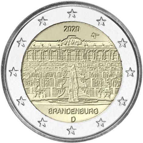 Saksa 2020 2 € Brandenburg A UNC