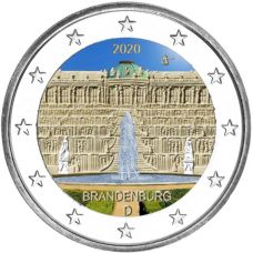 Saksa 2020 2 € Brandenburg VÄRITETTY
