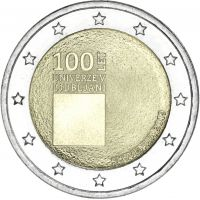 Slovenia 2019 2 € Ljubljanan yliopisto 100 vuotta UNC