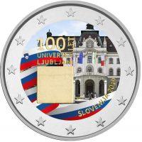 Slovenia 2019 2 € Ljubljanan yliopisto 100 vuotta VÄRITETTY