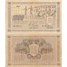 Suomi 1922 1000 Markkaa Litt C KL3-4