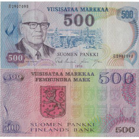 Suomi 1975 500 Markkaa KL4-5