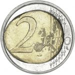 Suomi 2001 2 € Virhelyönti CIRC