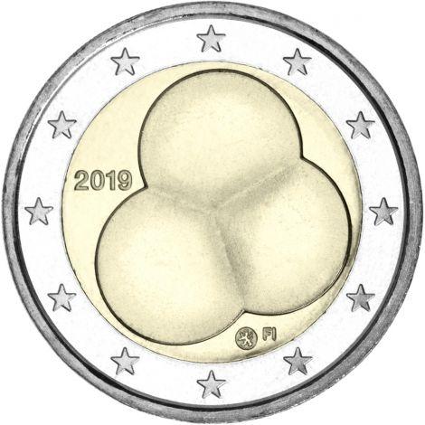 Suomi 2019 2 € Suomen Hallitusmuoto 1919 UNC