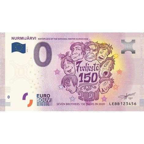 Suomi 2020 0 € Nurmijärvi - Aleksis Kivi (LEBB 2020-1) UNC