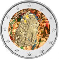 Vatikaani 2019 2 € Sikstuksen kappeli VÄRITETTY