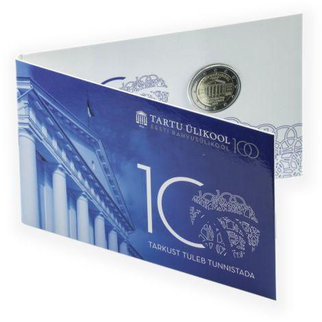 Viro 2019 2 € Tarton yliopisto 100 vuotta COINCARD