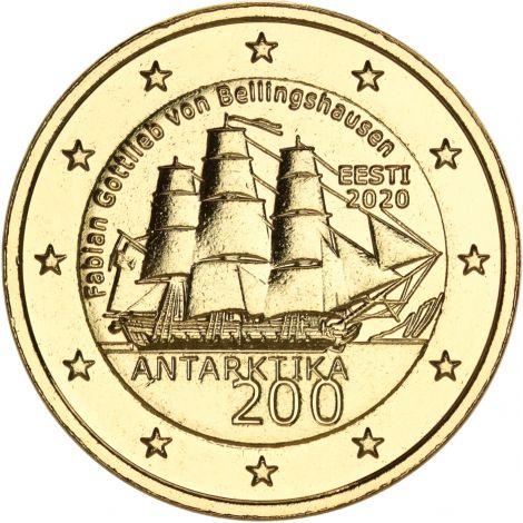 Viro 2020 2 € Etelämanner KULLATTU