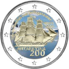Viro 2020 2 € Etelämanner VÄRITETTY