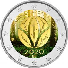 Belgia 2020 2 € Kasvinterveysvuosi VÄRITETTY