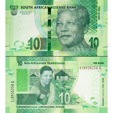 Etelä-Afrikka 2018 10 Rand P143 UNC