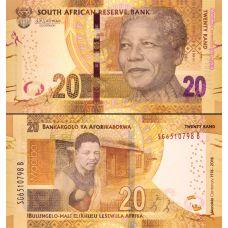 Etelä-Afrikka 2018 20 Rand P144 UNC