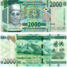 Guinea 2018 2000 Francs P48Aa UNC