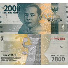 Indonesia 2019 2000 Rupiah P155d UNC